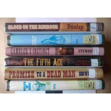 Six Hardcover Westerns - Lot